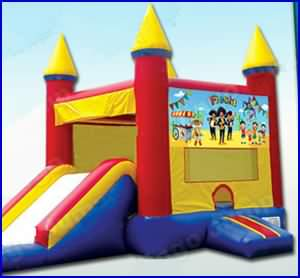 Rising Party Train Dry Slide Bounce House Rentals