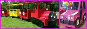 Party Train and Pink Kiddie Ride Rentals